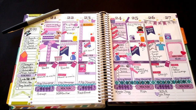 julia planner spread