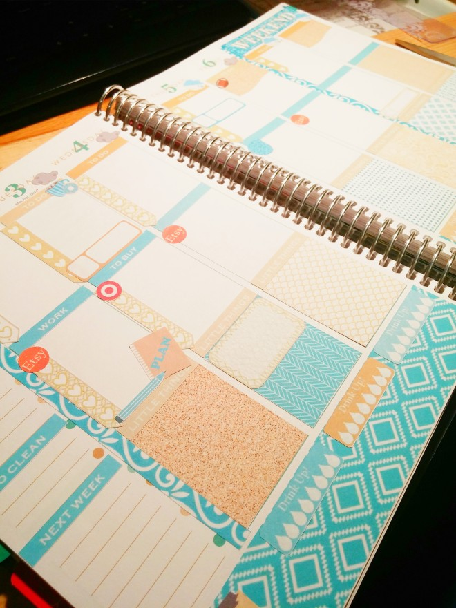Jennifer's planner spread.