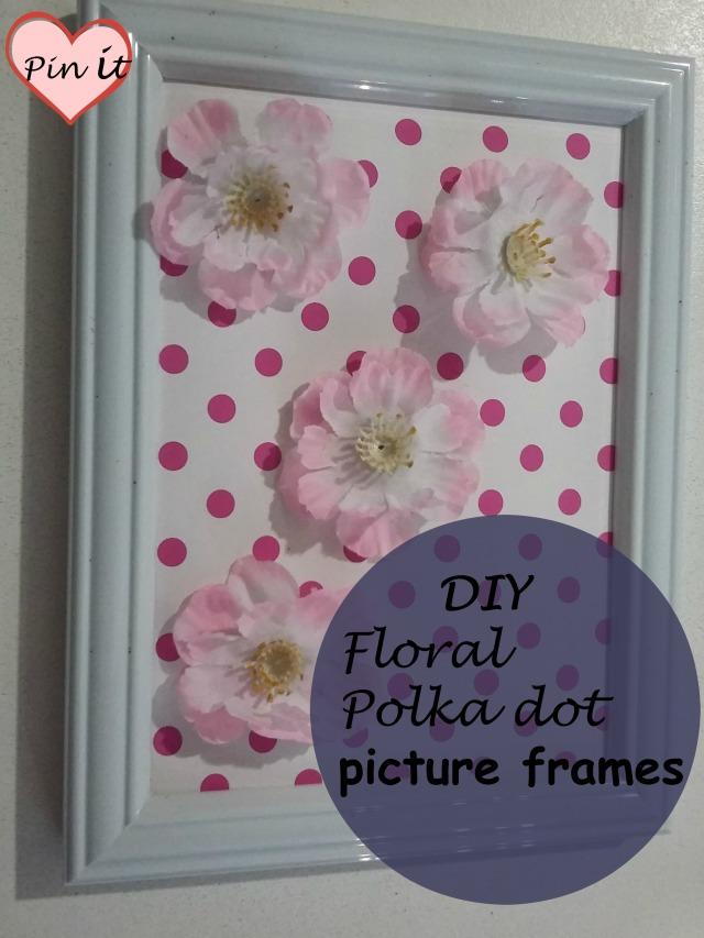 DIY Floral Polka dot frames
