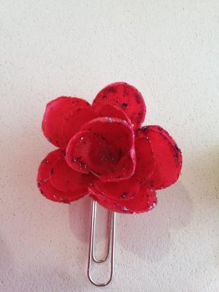 red glitter flower